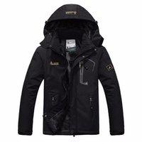 Wholesale Waterproof Coats Plus Size Women - Wholesale- autumn winter Plus velvet thickening jacket Men's woman jacket waterproof windproof men's casual warm coat jacket size L-5XL 6XL