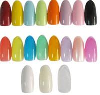 Wholesale Oval Tip Acrylic Nails - 500PCS set Oval Natural Colors False Acrylic Nail Tips UV Gel Half Nail Tips French Nail Art Tips