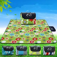 Wholesale Travel Baby Strap - Beach Blanket Mat Towel Handy Mat with Strap Waterproof Beach Blanket Baby Picnic Outdoor Blanket Camping Mat CCA6402 20pcs
