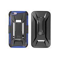 2017 Shape Shockproof Hybrid Rugged Defender Armor Case Kickstand + Swivel Belt Clip Holster Cover para Samsung LG Huawei estojos