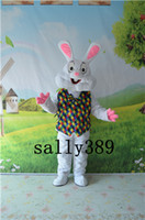 costumes de lapin de pâques personnalisés achat en gros de-New Easter Bunny mascotte haute qualité costume de dessin animé personnalisé personnalisé robe party parade livraison gratuite ventes directes d'usine