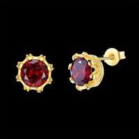 Wholesale Elegant Fashion Jewellery - Gold studs earrings for women fashion cublic zirconia earring studs elegant jewellery sets for lovers on engagement  wedding  party birthday