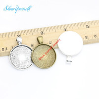 Wholesale Craft Pendant Frame Wholesale - Wholesale- 10pcs lot Antique Silver Plated Photo Frame Charms Pendants for Jewelry Making DIY Handmade Craft 25mm