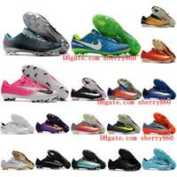 2018 nouveau mercurial Vapor XI cr7 chaussures de football mercurial  superfly cuir fg chaussures de football