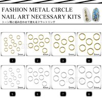 Wholesale Nails Jewerly - Wholesale- Hot Fashion 150pcs lot gold silver nail round ring circle metal studs jewerly for nail art