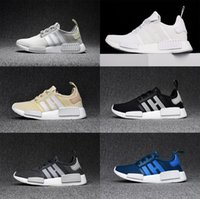 Wholesale Gold Olive Band - 2017 NMD Runner R1 Mesh Salmon Talc Cream Olive Triple Black Men Women Running Shoes Sneaker NMD Ultra Boost Runner Primeknit Shoes eur36-44