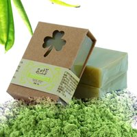 Wholesale Bar Soaps - 100g Organic Handmade Matcha Green Tea Powder Soap Whitening Moisturizing Cleansing Soap Remove Acne Cleansing Bath Bar Soap