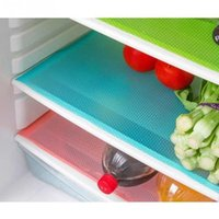 Wholesale Wholesale Refrigerator Magnet - Wholesale- 4 pcs set Fashion Refrigerator pad Antibacterial antifouling Mildew Moisture absorption Pad Refrigerator Mats Fridge Magnet