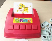 Wholesale English Learning Machine - Wholesale-Learning Machine, Learn English Word Puzzle Toy, Children's Educational Toys, Baby Literacy Fun Game, English Learning Cards