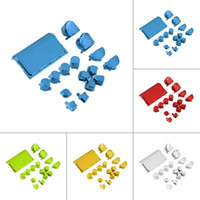 Wholesale Playstation Mod - New Full Chrome Button Replacement Mod Kit for 4 PS4 Controller Joystick Video Game Playstation Gold Color