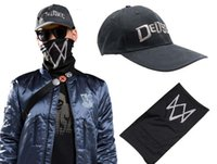 Wholesale Watch Dogs Mask Adien Pearce Watch Dogs Mask Game Hero Cosplay Black Mask Cosplay