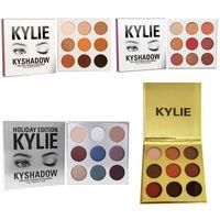 Wholesale Wholesale Powder Eye Shadow - New Kyshadow Kit Kylie 9 colors Pressed Powder Eye Shadow Palette Kylie Cosmetics the Bronze Palette Waterproof Eyeshadow IN STOCK