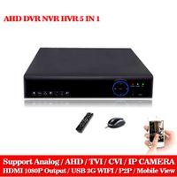 Wholesale Cctv Dvr Cloud - 8CH 1080P DVR System ONVIF mini NVR 8CH AHD Hybrid DVR HDMI 1080P H.264 P2P Cloud network video recorder CCTV 8CH DVR Recorder