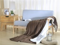 Wholesale Wholesale Cotton Textiles - Fleece Blanket Thickening Throw Blanket Comfy Home Textiles Knitted Woolen Blanket For Autumn Winter Usage Fedex Free Wholesale