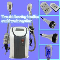 Wholesale Slim Cavitation - fat freezing machine cavitation rf lipo laser machine 2 fat freez handles work together body slimming machine