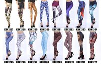Wholesale 2017 new fashion printing digital printing stretch Tights Leggings wear leggings KDK257 series