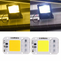 Grossiste- Luminaire COB lampe 30W LED Chip perles AC 220V IC Smart Fit pour DIY LED Plaque Flood Light Projecteurs de sécurité extérieure