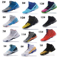 Wholesale Electric Cow - 2017 New Arrival Curry 2 Elite Mens Basketball Shoes Black White Gold Grey Red Electric Blue Storm Haight Street Northern Lights US7-12