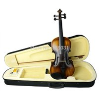 Wholesale Full Size Natural Acoustic Violin Fiddle Case Bow Rosin Student Violin