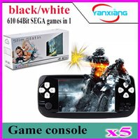 "Wholesale Portable Tft - 5pcs Portable Video Game 4.3""TFT Screen 4GB PAP Classic Handheld Game Console 610games 64 Bit Portable Game Console YX-K3-1"