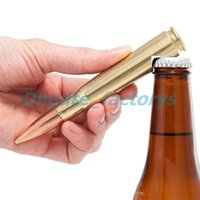 Wholesale Bullet Shaped - Creative bullet bottle opener Shell case shaped opener Great gift idea for military fan Free shipping