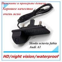 Wholesale Rear Camera Octavia - CCD auto Rear view camera For skoda octavia fabia  For audi A1 Car parking camera Trunk handle camera Night vision waterproof color