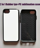 Wholesale Sublimation Plating Case Iphone - 2 in 1 for iphone 7 2d sublimation protective case Rubber tpu+pc + aluminium plate 100pcs lot