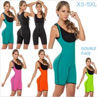 Wholesale One Piece Shaper Suits - Wholesale- Both Sides One Piece Body Shaper Body Suit Butt Lifter Fitness Slimming Fitness Ultra Sweat Corset