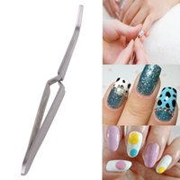 Edelstahl Nail Art Strass Pinzette Perlen Dekoration Picking Tool Clip Nipper Nail Art Dekorationen