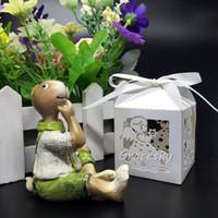 boites de fées achat en gros de-50 PCS / ensemble livraison gratuite Fée Belle Gilr conception De Mariage D'anniversaire Bonbons boîte Laser Cut Papier Doux Titulaire Cadeau Boîte Accueil Party Favors Décor