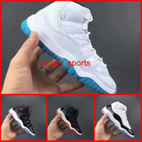 Wholesale Girl Shoes Usa - Classic Retro 11 Kids Basketball Shoes Retro XI Boys And Girls Running Shoes Baby Kids Athletic Shoes Black Red White Size USA 11C-3Y