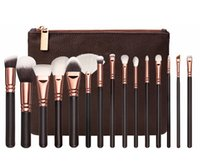 Wholesale Luxury Cosmetic Bags Wholesale - 15pcs set ZOV makeup brushes sets Luxury designer face and eyes cosmetics brush sets makeup brands High quality makeup tools with bag