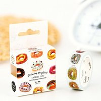 Atacado- 2016 1pcs / set The Delicious Donut Decorative Washi Tape DIY Scrapbooking Masking Tape School Office Supply