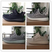 Wholesale Hot Turtles - Wholesale 2017 HOT 350 Boost Pirate Black Running Shoes Men WOMEN 350 Boost Kanye west 350 Turtle Dove Oxford Tan Moonrock Sports Sneaker