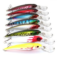 Wholesale Lure Pieces - 8 Piece Sea Trolling Big Lure Minnow Fishing 29g 16.5CM Plastic Hard Lure Fishing Tackle 2# Hooks Isca Artificial Bait Minnow