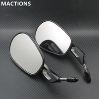Wholesale Mirrors For Sportster - Rear View Mirrors For Harley Touring Road King Glide XL883 SPORTSTER SOFTAIL XL Black Chrome Free Shipping