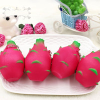 Jumbo Pitaya Squishy Slow Rising Dragon Fruit Squeeze Phone Charms Regalo de Navidad Juguetes Bolso Colgante Home Decorations