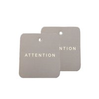 Wholesale Customized Coated Paper Clothing Tag Label Crafts Gift Label cm paper tags