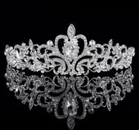 Wholesale Hair Factory Yiwu - Supply wedding headdress crown Yiwu rhinestone jewelry bridal crown factory spot wholesale bridal headdress