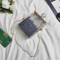 bouteille de parfum star achat en gros de-Sac de soirée pour femme Bouteille de parfum Sacs à bandoulière Laides Noir Pochette sac acrylique Paillettes sacs Bling Star