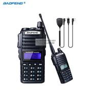 transceptor 3km al por mayor-Al por mayor-Walkie Talkie BaoFeng UV-82 de banda doble 136-174 / 400-520 MHz FM Ham Transceptor de radio bidireccional + NKTECH USB Cable de programación + micrófono