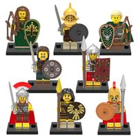 Wholesale Toy Warrior Knights - X0137 Super Heroes Gladiatus Medieval Knights Rome Commander Elf Hunter Highland Warrior Mini Dolls Building Blocks Gift Toys