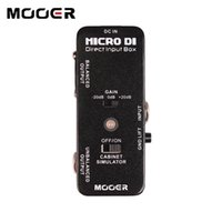 Wholesale guitar effects micro for sale - Group buy MOOER Micro DI DIRECT INPUT BOX Pedal with ultra low distortion Guitar effect pedal