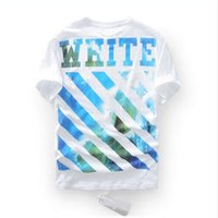 Wholesale Cap Shirt Men - 2017 new men women t shirt OFF-White version cap wave moving short-Sleeved T-Shirt pyrex off white virgil abloh top tee t shirt