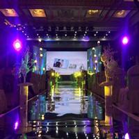 Wholesale House Station - Wedding Centerpieces Mirror Carpet Aisle Runner Gold Silver Double Side Design T Station Decoration Wedding Favors Carpets New Arrival