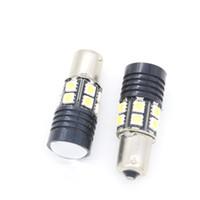 Wholesale 1156 Ba15s Cree Led - 2PCS White 1156 BA15S P21W 9W CREE R5 & 5050 12 SMD LED Turn Signal Bulb Reverse Backup Light Lamp