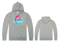 Wholesale Pink Dolphin Sweatshirts - Eurpopean and American autumn and winter pink dolphin hiphop south coast plus size xxl fleece sweatshirt pullover hiphop casual coat hoody