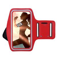 bras mobile achat en gros de-Brassards de téléphone portable pour iPhone 8 Plus Gym Bande de sport de course pour iPhone 6plus 6S plus 7 Plus Brassard réglable pour iPhone X