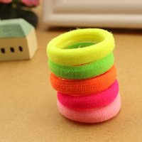 Wholesale Hair Rubber Band Bag - Wholesale- 25pcs bag 2015 New Fashion Child Baby Kids Ponytail Holders Hair Accessories For Girl Rubber Band Tie Gum (Mix Color)