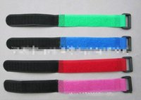 Wholesale Self Adhesive Hook Loop Tape - Magic Self Adhesive 2CM Width* 20CM Nylon Fixed Fastener tape  Hook& Loop Tape Candy color Random peripheral wire Strapping Tape